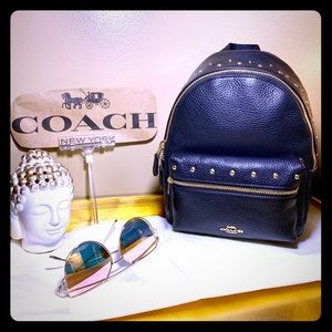 Coach Mini Charlie Backpack with studs! Brand New!